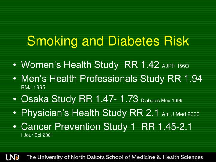 Smoking and Diabetes Risk
