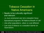 tobacco cessation in native americans