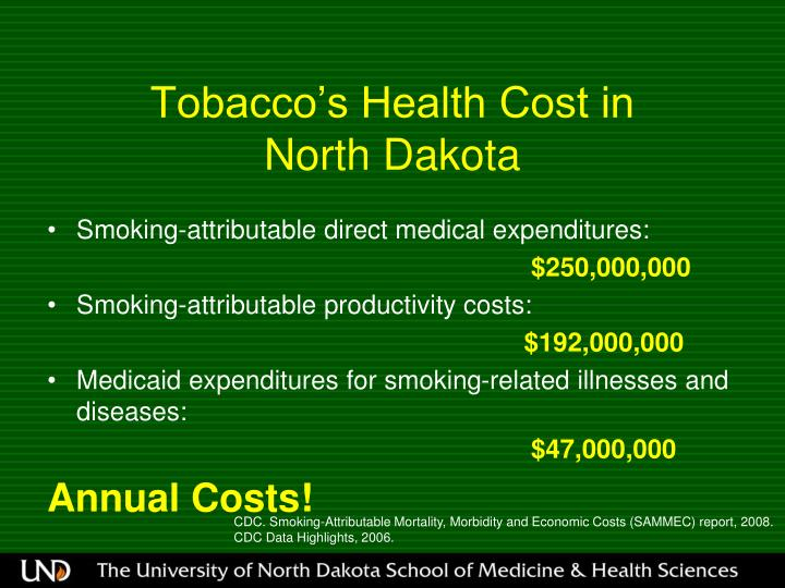 Tobacco's Health Cost in