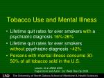 tobacco use and mental illness2