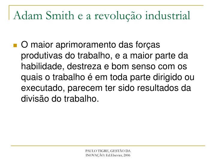 Adam Smith e a revolução industrial