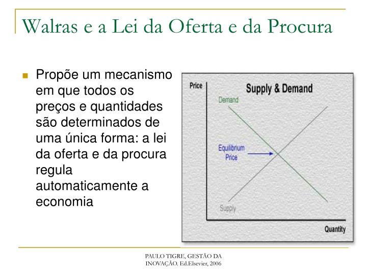 Propõe um mecanismo em que todos os preços e quantidades são determinados de uma única forma: a lei da oferta e da procura regula automaticamente a economia