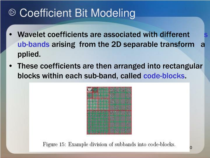 Coefficient Bit Modeling