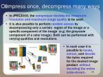 compress once decompress many ways