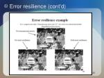 error resilience cont d