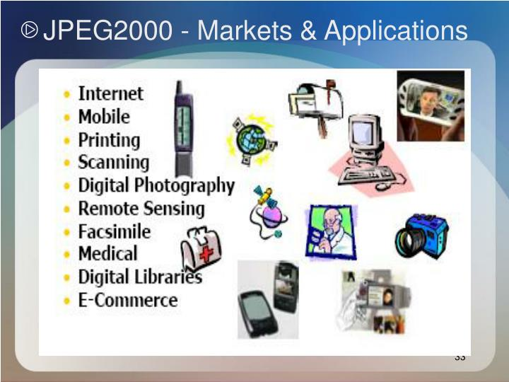 JPEG2000 - Markets & Applications