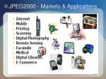 jpeg2000 markets applications