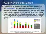 quality layers organization