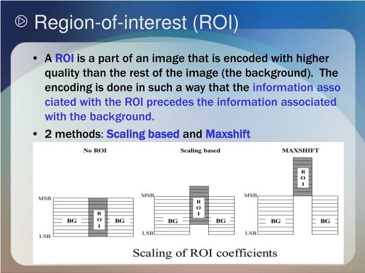 Region-of-interest (ROI)