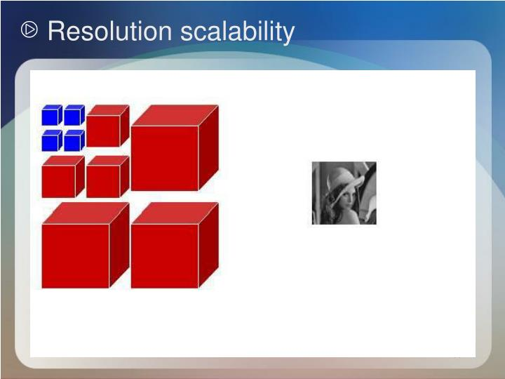Resolution scalability