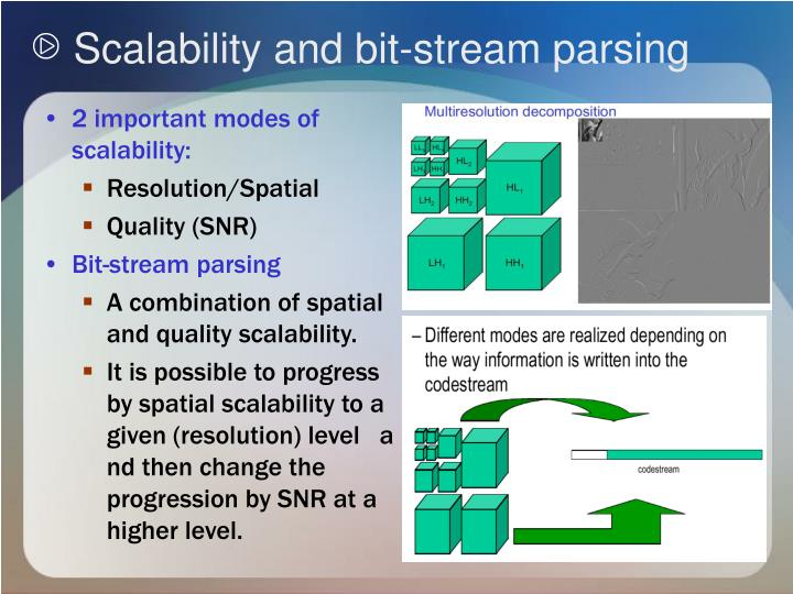 Scalability and bit-stream parsing