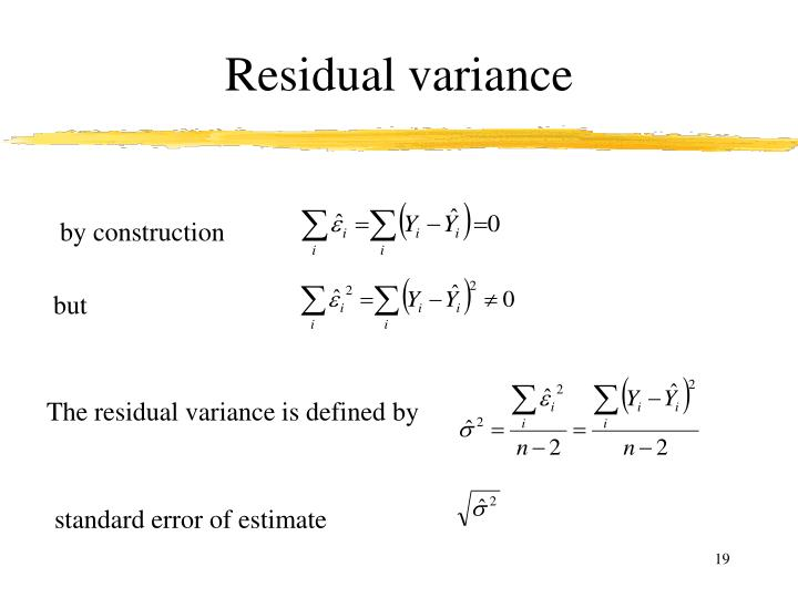 Residual variance