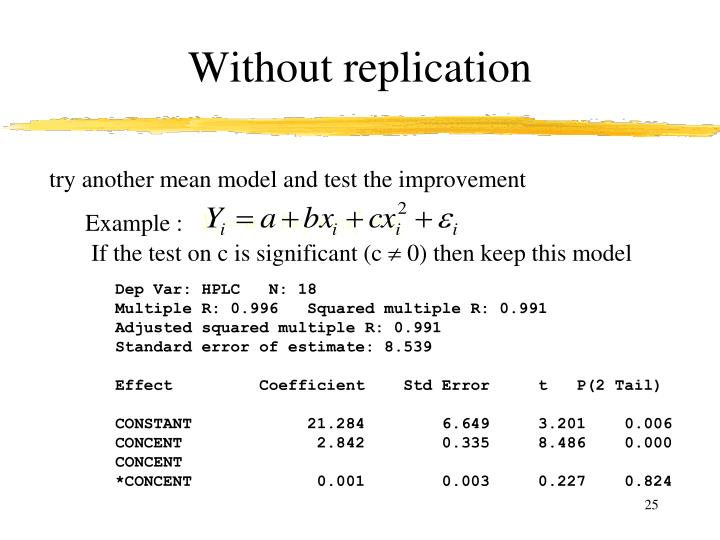 Without replication