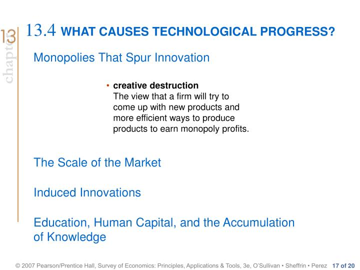 WHAT CAUSES TECHNOLOGICAL PROGRESS?