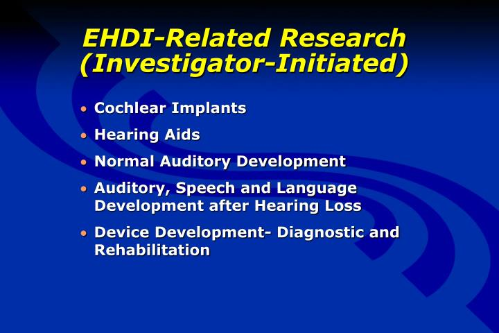 EHDI-Related Research