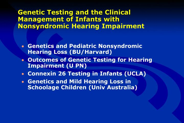Genetic Testing and the Clinical Management of Infants with Nonsyndromic