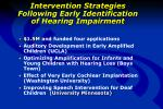intervention strategies following early identification of hearing impairment