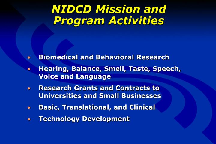 NIDCD Mission and