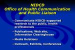nidcd office of health communication and public liaison