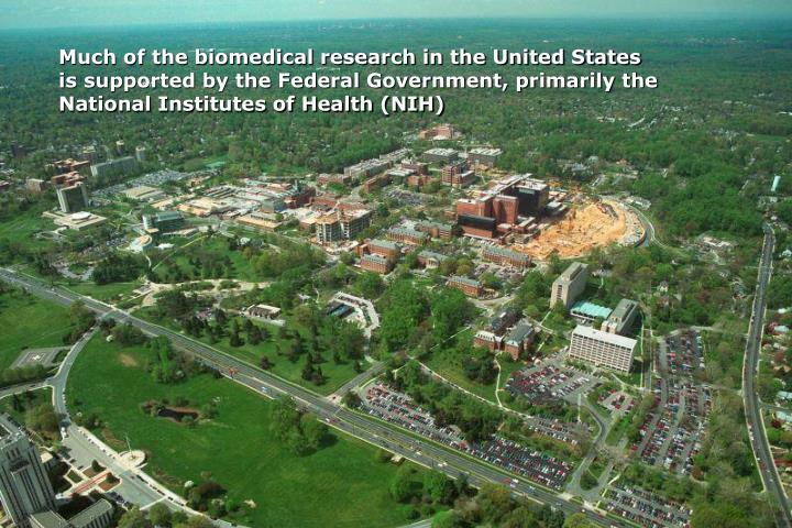 Much of the biomedical research in the United States
