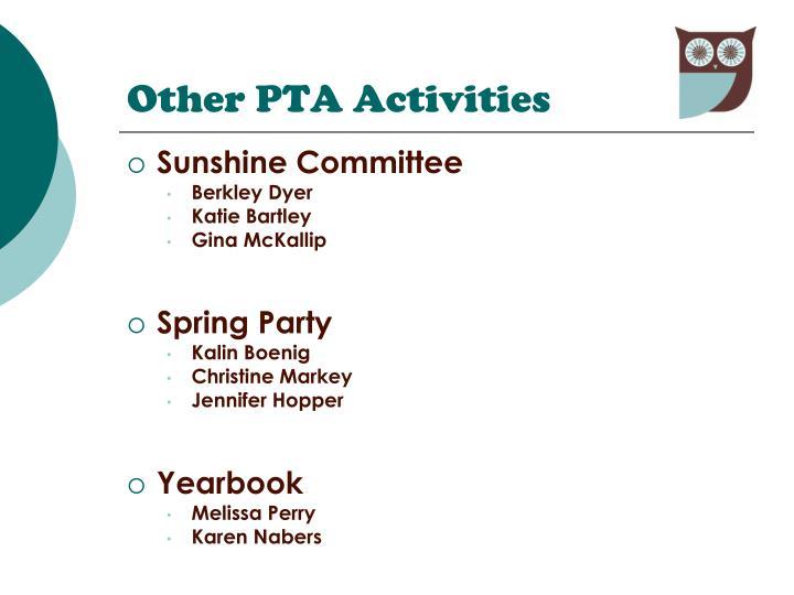 Other PTA Activities