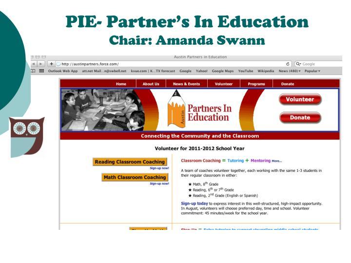 PIE- Partner's In Education