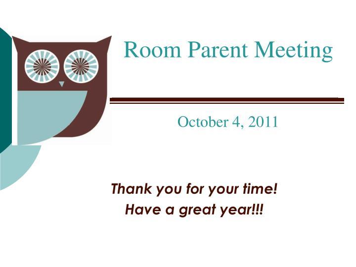 Room Parent Meeting