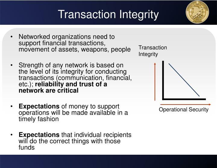 Transaction Integrity