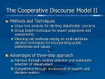 the cooperative discourse model ii