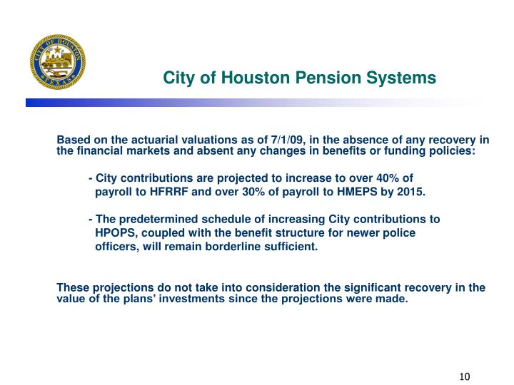City of Houston Pension Systems