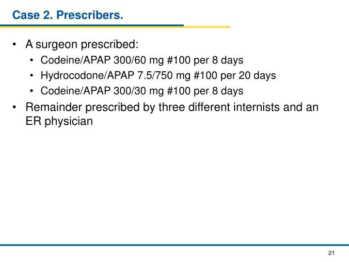 Case 2. Prescribers.