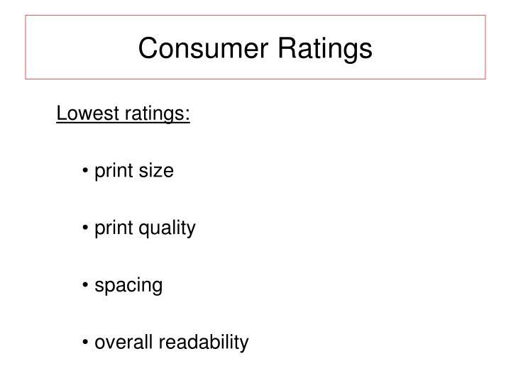 Consumer Ratings