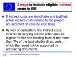 2 ways to include eligible indirect costs in eie