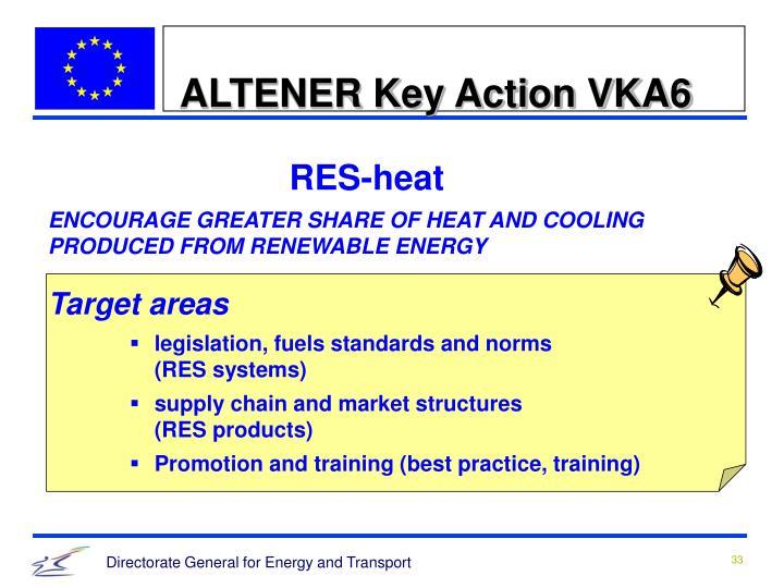 ALTENER Key Action VKA6