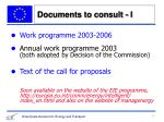 documents to consult i
