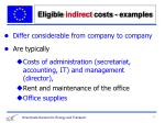 eligible indirect costs examples