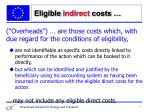 eligible indirect costs