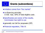 grants subventions