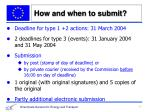 how and when to submit