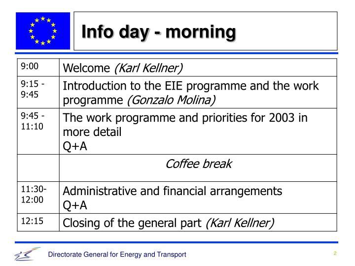 Info day - morning