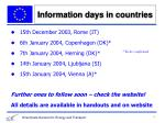 information days in countries1