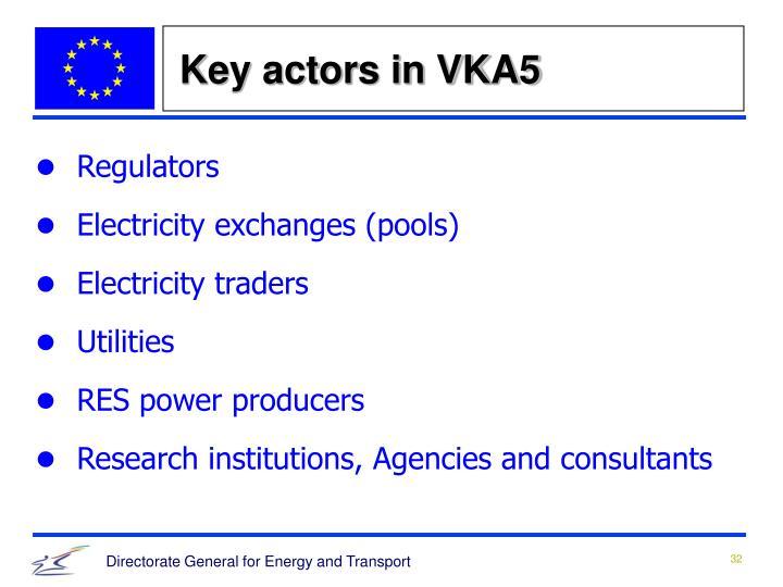 Key actors in VKA5