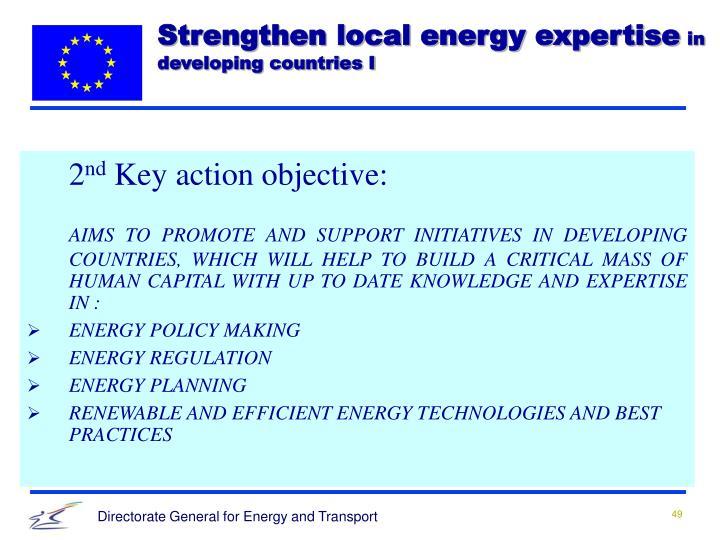 Strengthen local energy expertise