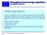 strengthen local energy expertise in developing countries i