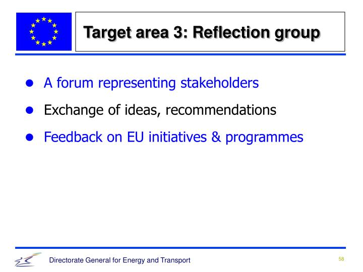 Target area 3: Reflection group