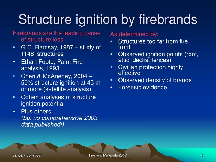 Firebrands are the leading cause of structure loss