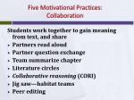 five motivational practices collaboration