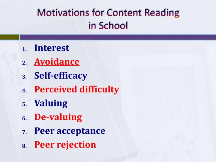 Motivations for Content Reading