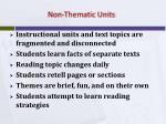 non thematic units