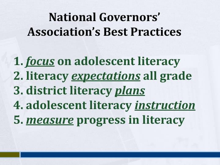 National Governors' Association's Best Practices